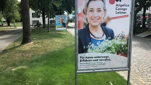 Plakate in Aarau