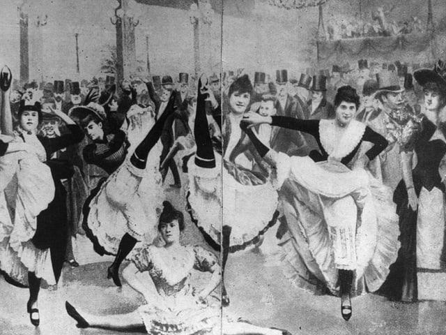Tänzer im Moulin Rouge. 1890.