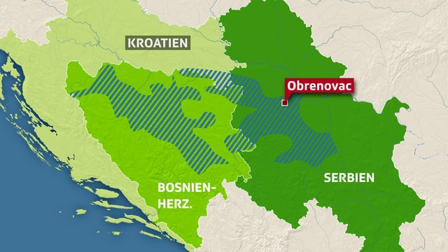 Karte der Balkan-Region