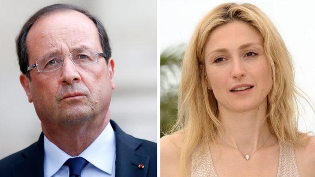 Präsident Hollande und Schauspielerin Julie Gayet
