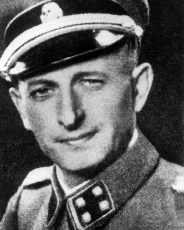 Eichmann in SS-Uniform.