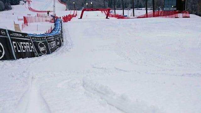 Der Zielhang der «Pista Stelvio» ist stark beschneit.
