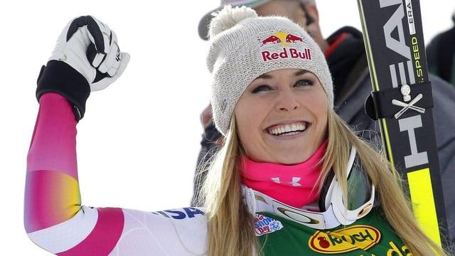 In Cortina hat sich Lindsey Vonn endgültig in die Geschichtsbücher des Ski-Zirkus eingetragen.