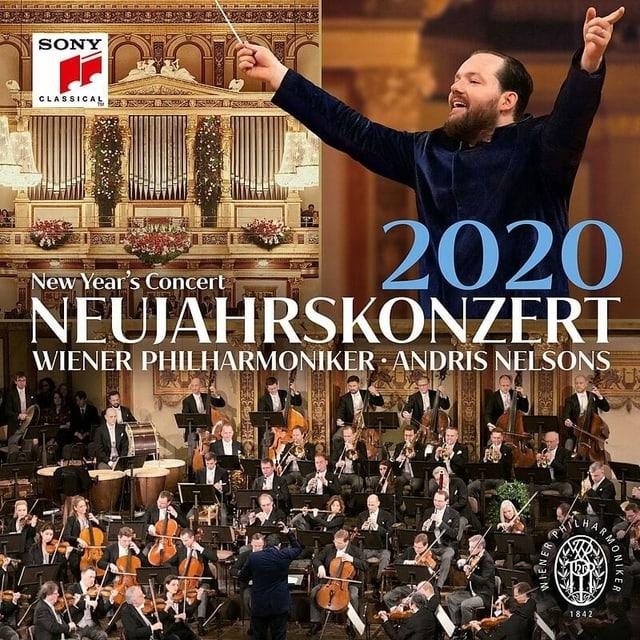 Ein Dirigent und ein Orchester auf einem Plattencover.