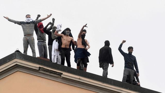 Insassen eines italienischen Gefängnis