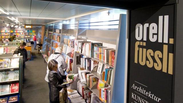 Vista en ina libraria dad Orell Füssli.
