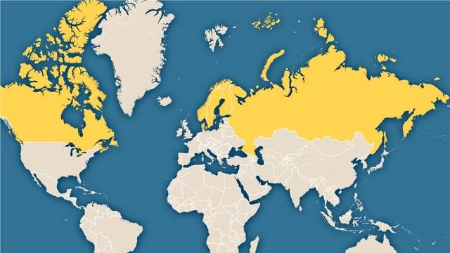 Eine Weltkarte.