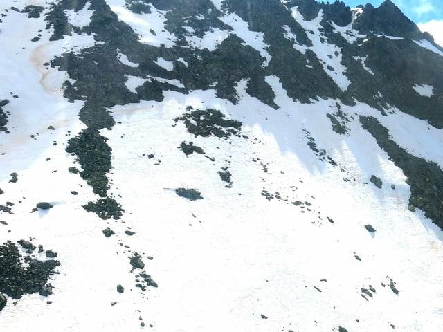 Bergflanke der Absturzstelle