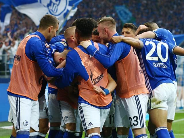 Die Schalke-Spieler.