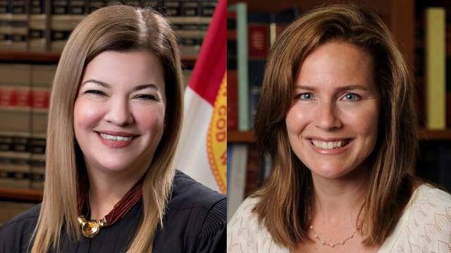 Amy Coney Barrett (r.) und Barbara Lagoa (l.)