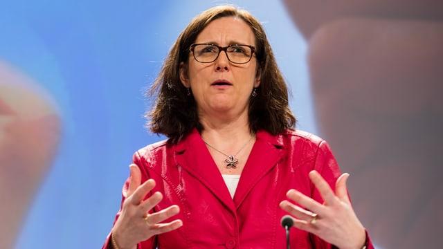 Zeigt sich aktuell nicht für Verhandlungen offen: EU-Handelskommissarin Cecilia Malmström.
