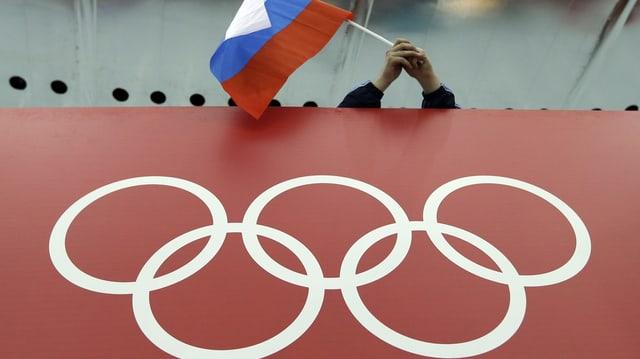bandiera da la Russia e rintgs olimpics