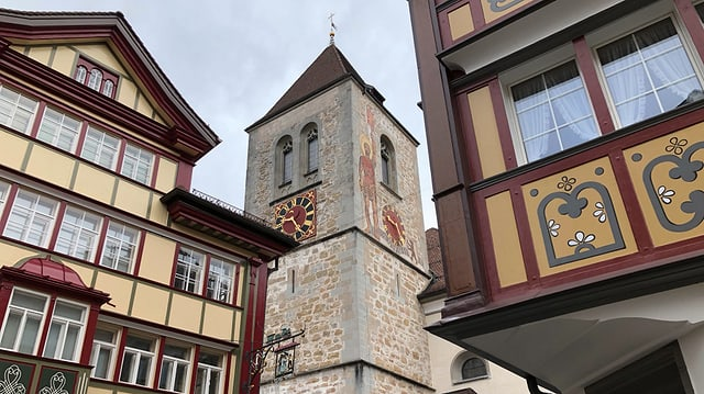 Turm der Kirche St. Mauritius in Appenzell.