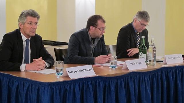 Das Initiativekomitee während der Medienkonferenz