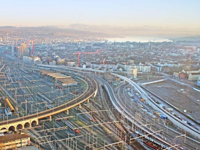 Die Eisenbahnbrücken aus der Vogelperspektive