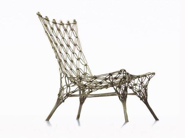 Stuhl aus Seil geknüpft