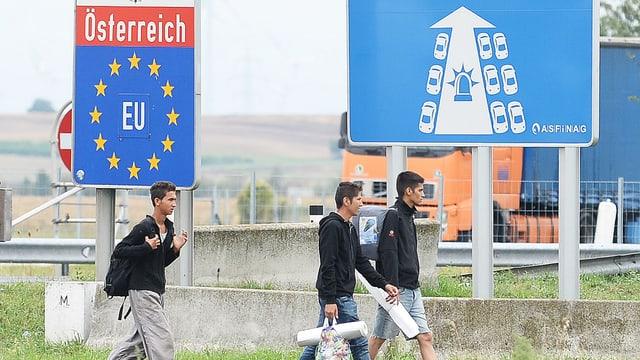 Flüchtlinge an Österreichs Grenze