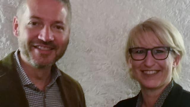 Brustbild von Thomas Marbet und Marion Rauber