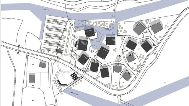 Il project «La Sassa» dal biro d'architectura Domenig SA.
