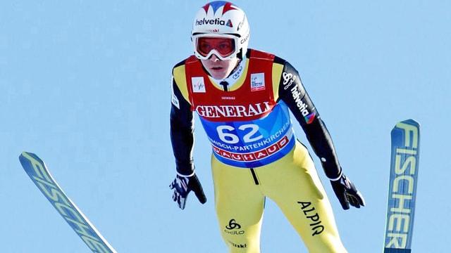 Kurzer Satz: Weit ging es für Simon Ammann in der Garmisch-Qualifikation nicht.