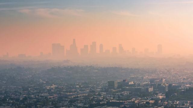 Smog über Los Angeles.