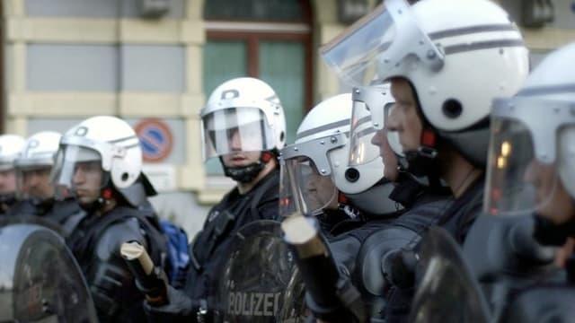 Polizei in Vollmontur