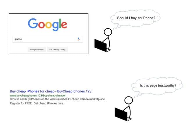 So stellt sich Google die Arbeit seiner Testpersonen vor.