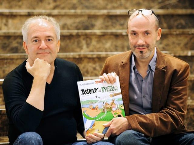 Didier Conrad (Iinks) und Jean-Yves Ferri