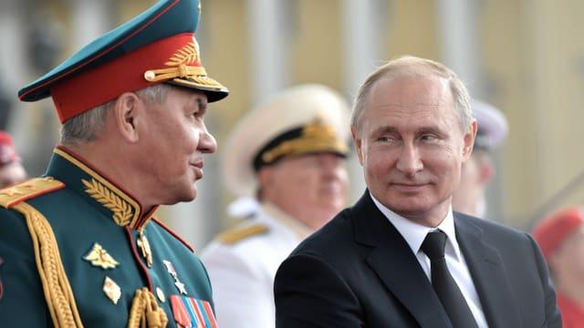 Sergei Schoigu und Putin