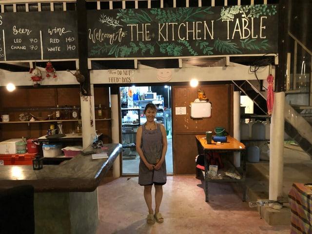 Chiyoko Yamaguchi in ihrem Restaurant Kitchen Table