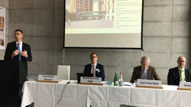 La conferenza da la Andermatt Swiss Alps