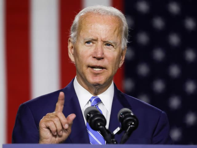 Joe Biden am Rednerpult.
