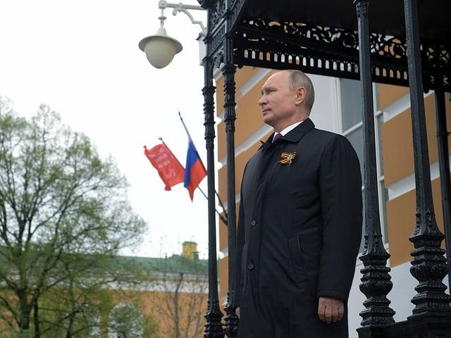 Vladimir Putin auf dem Roten Platz.