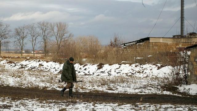 In separatist pro-russ en la regiun da Donezk, il cumenzament dal december.