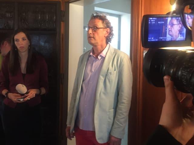 Geri Müller erfährt, dass er nicht mehr im Stadtrat sein wird.