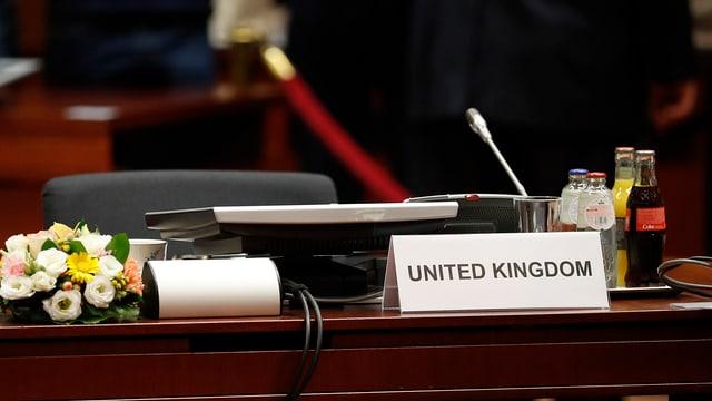 Leerer UK-Sitz beim EU-Gipfel in Brüssel, 28.6.16.