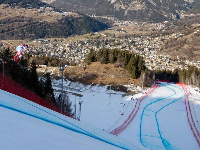 Im Veltlin (Bormio und Livigno) sind die Skirennen der Männer, Snowboard und Freestyle vorgesehen.