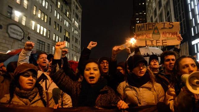Demonstrants a New York.