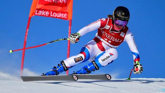 Fabienne Suter war die beste Schweizerin im Training.