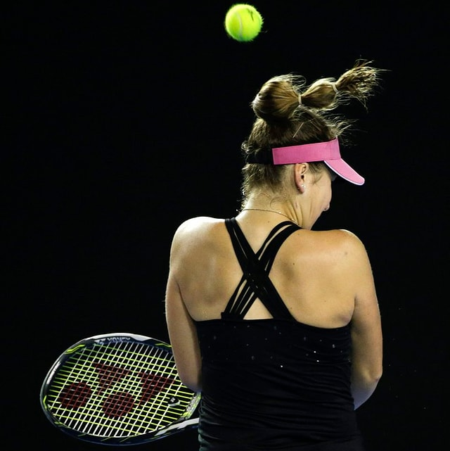 La giugadra da tennis Blinda Bencic.
