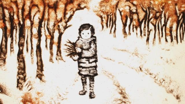 Animationsfilm, Mädchen allein im Wald