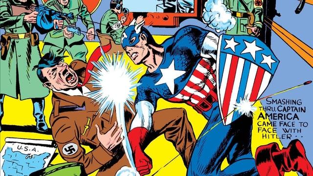 Erste Comic Ausgabe von Captain America
