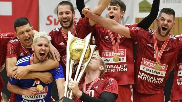 Die Volleyballer von Lausanne UC.