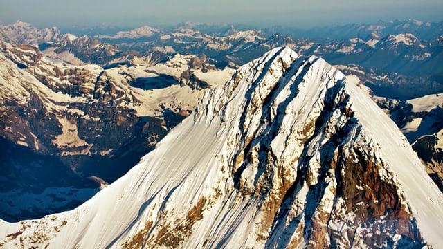 Die Alpen aus der Vogelperspektive