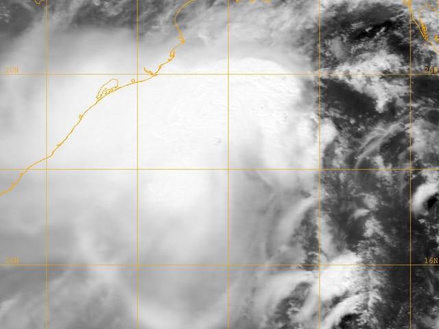 Satellitenbild von Zyklon Mahasen.