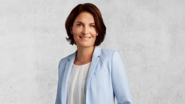 Porträt von Saskia Schenker, Präsidentin der FDP Baselland.