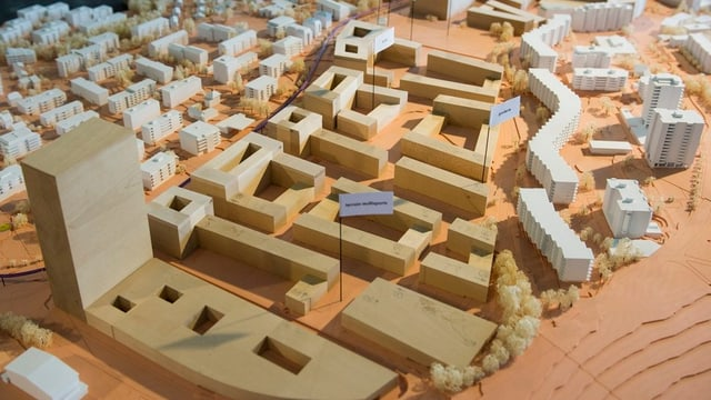 Städtebau-Modell.