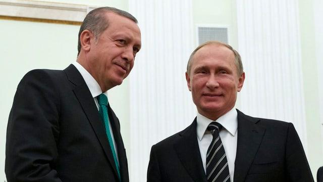 Erdogan und Putin bei ihrem Treffen in Moskau (23.9.15)