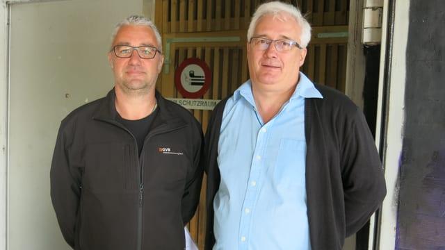 Urs Kallen (GVB) und Daniel Rudin (Migrationsdienst Kanton Bern).