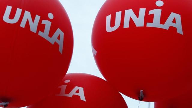 balluns cun si il logo da l'Unia